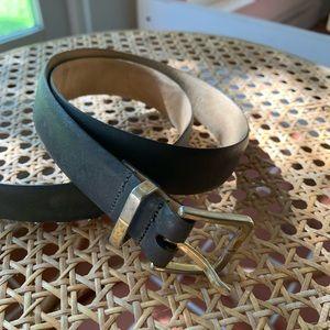 YSL vintage grey leather belt